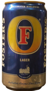 A can of Foster's Lager.