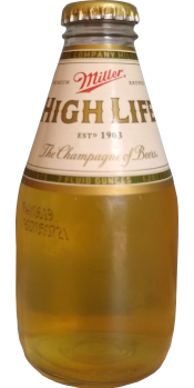 A 7-ounce bottle of Miller High Life.