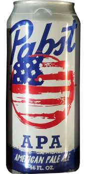 A can of Pabst American Pale Ale.